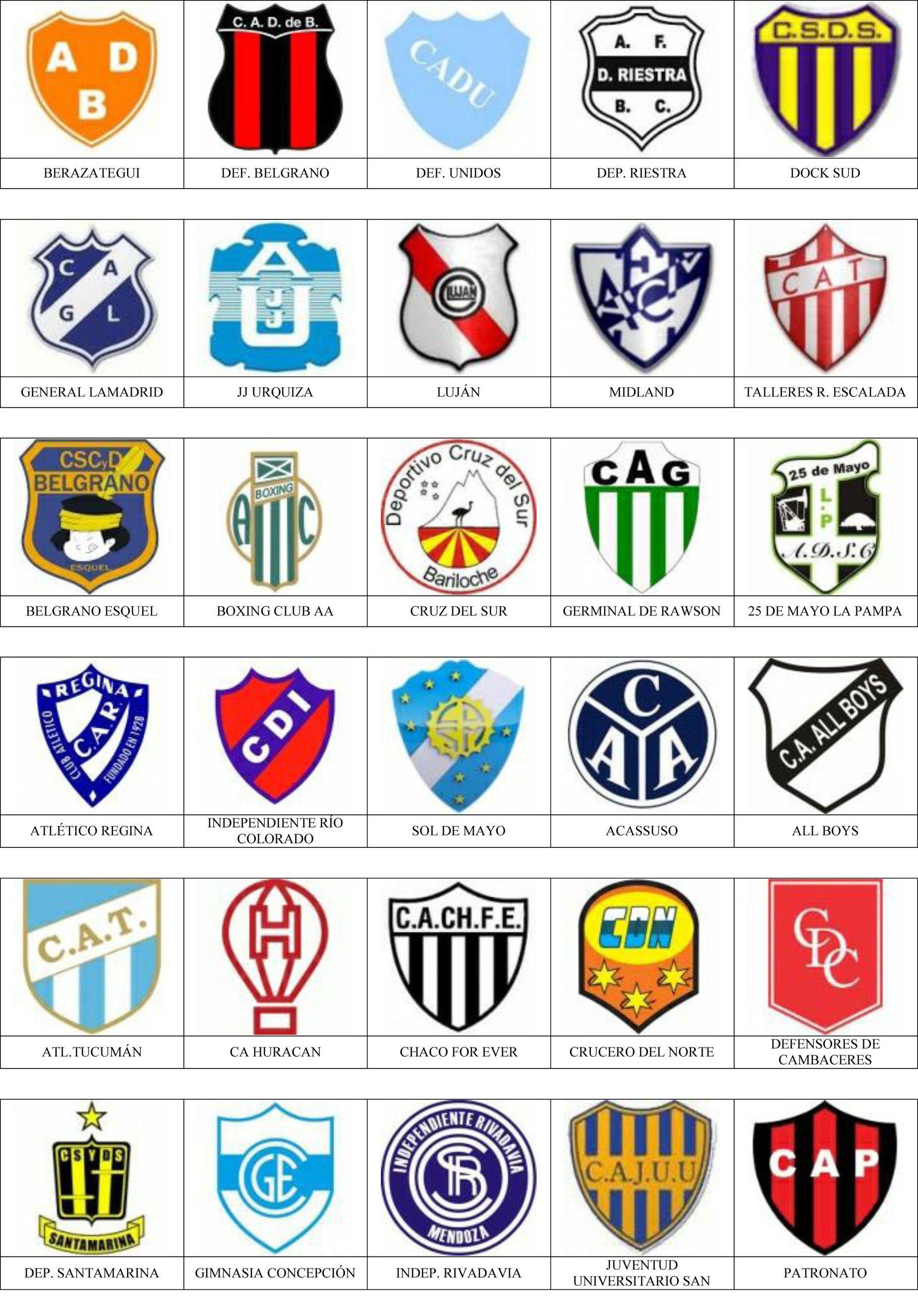 Argentina Pins De Escudos Insiginas De Equipos De Fútbol Escudos De Futbol Argentino Equipo De Fútbol Gimnasia La Plata