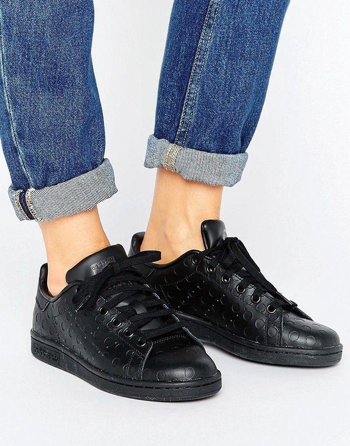 scarpe nere donna adidas stan smtih