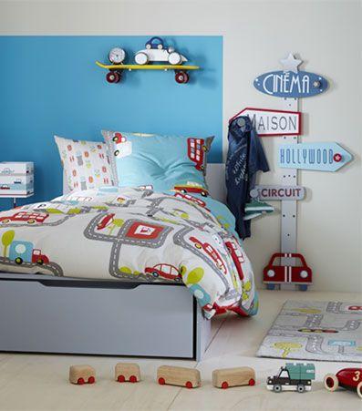 A fond la caisse d co chambre gar on linge de lit enfant vertbaudet chambre enfant - Vertbaudet chambre garcon ...
