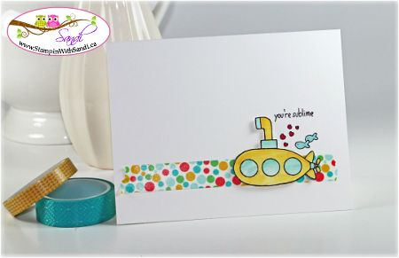 Stampin Up You're Sublime card by Sandi @ www.stampinwithsandi.com