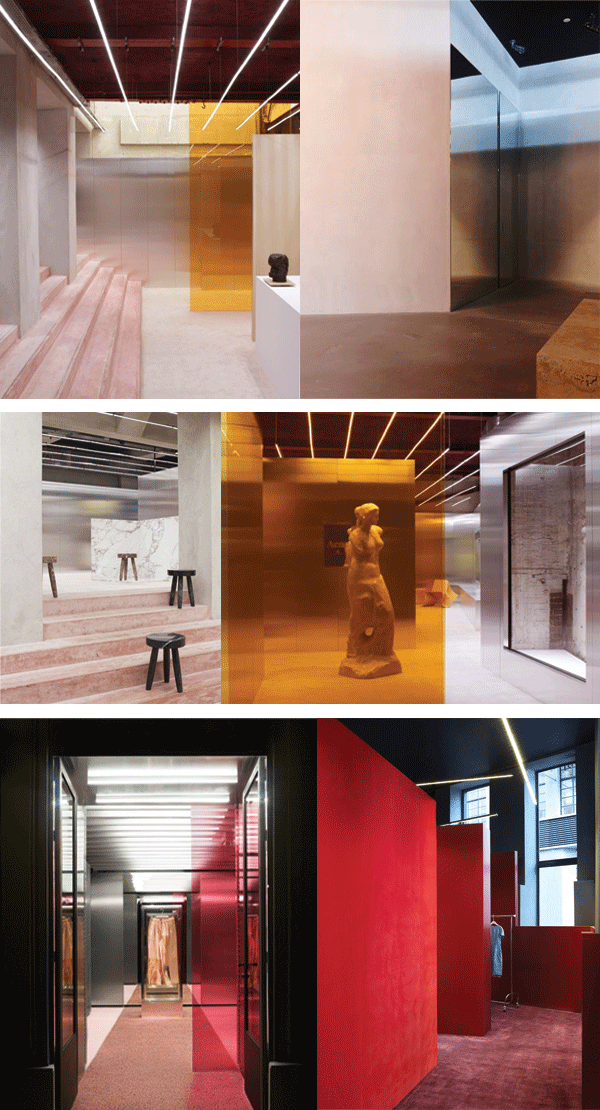 Acne studios store design by bozarthfornell architects for Interior design zurich