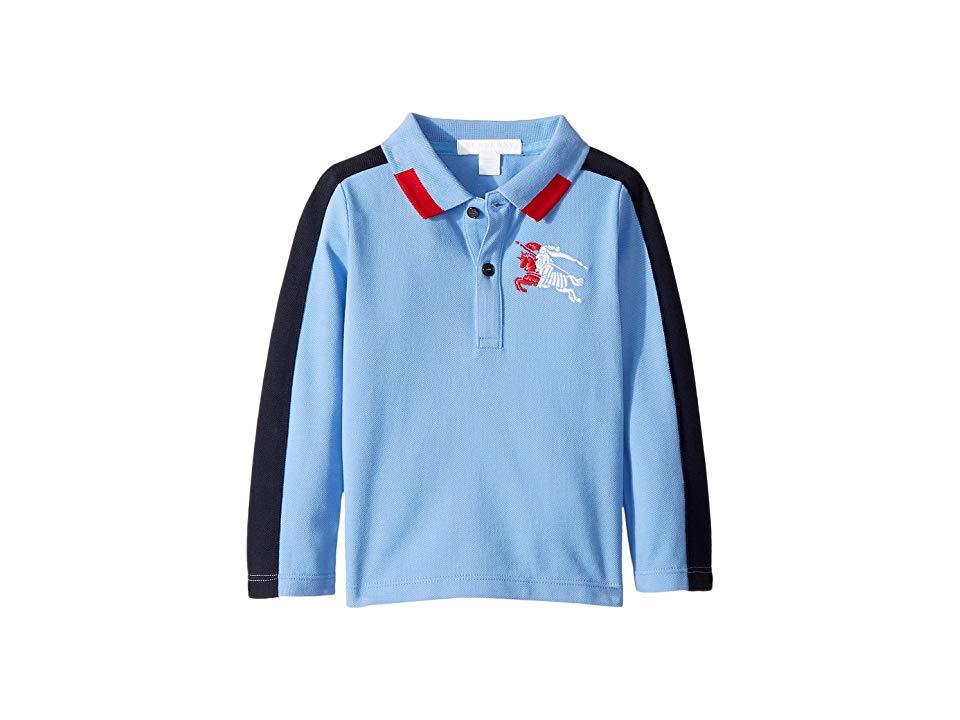 04a2fe8c554f Burberry Kids Mini Eric Long Sleeve Top (Infant Toddler) (Hydrangea Blue)