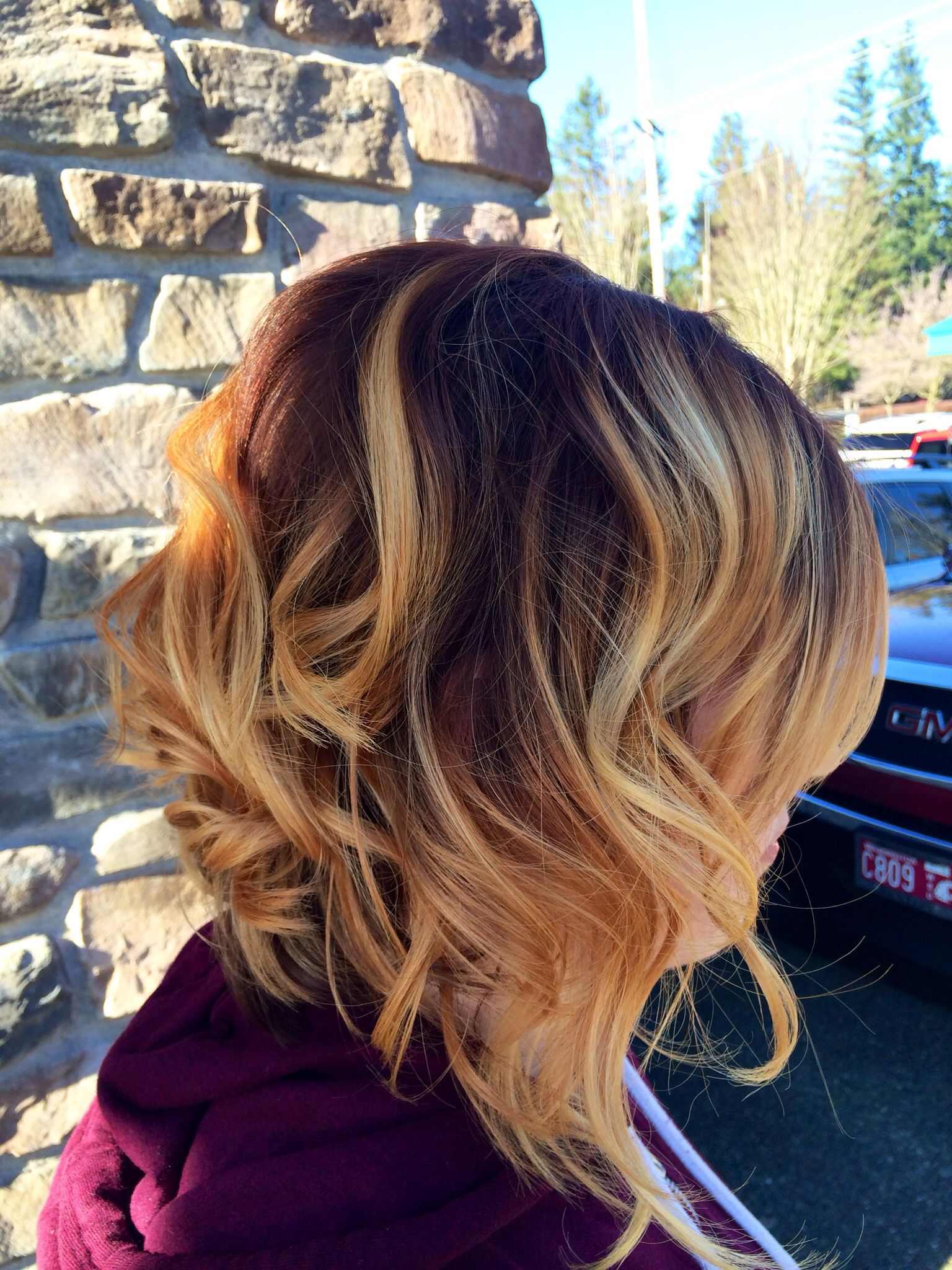 Beautiful red/copper/gold #ombre #balayage #redhair #copperhair #goldhair hair by Shandrica Parker @ Stan Parente Salon 4254325920