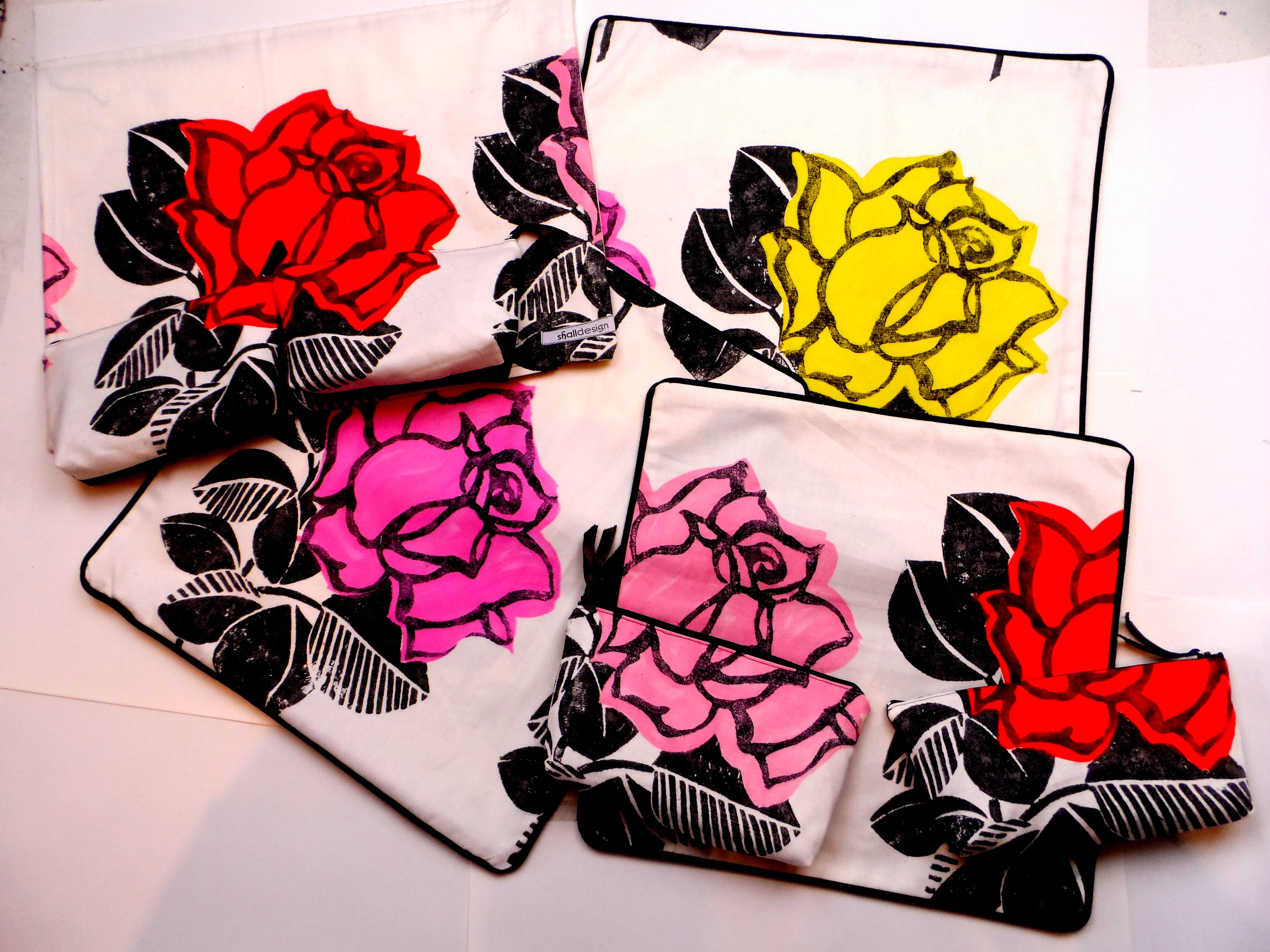 Collection of Designers Guild cushion covers with camouflaged purses as well!