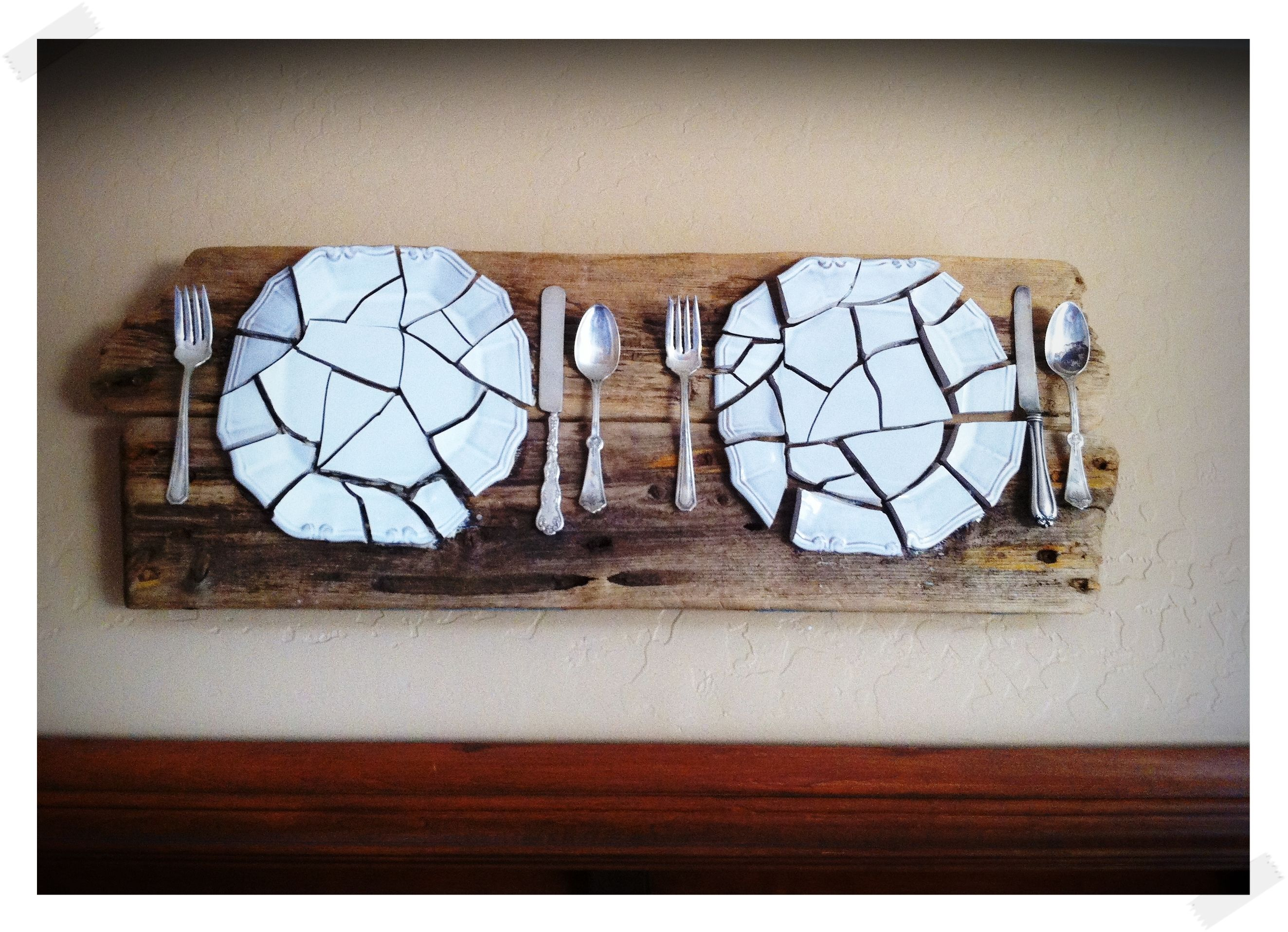 Broken Dish Wall Art Diy - Bulb To Blossom