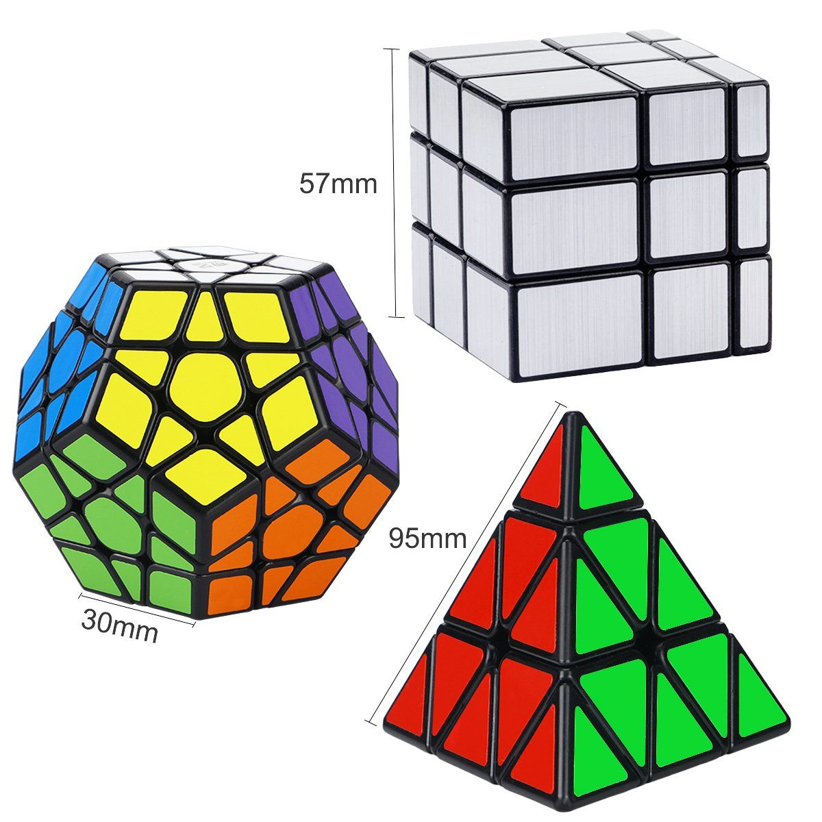 373485217065 Dreampark Speed Cube Set [3 Pack] Magic Puzzle Cube Bundle Sticker ...