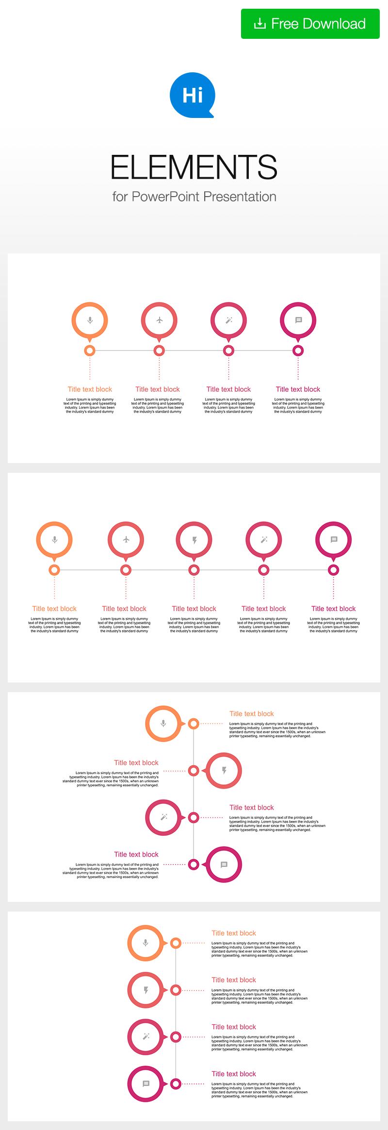 Free Timeline Template For Powerpoint Ppt Download Hislide Io Infograp Downl In 2020 Zeitleiste Design Infografik Illustrationen Infografik