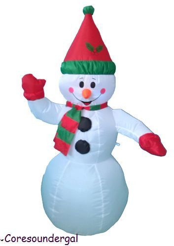Christmas Inflatable Snowman Hat Scarf Yard Garden Decoration - inflatable christmas yard decorations