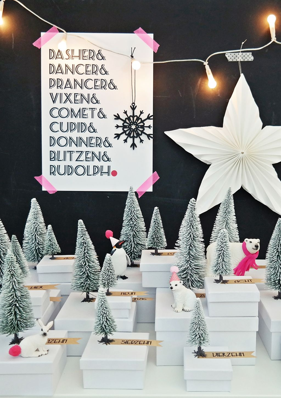 DIY Adventskalender Winterwunderwald… das 4. Türchen… ähm, Schneetannen-Kästchen ist geöffnet!