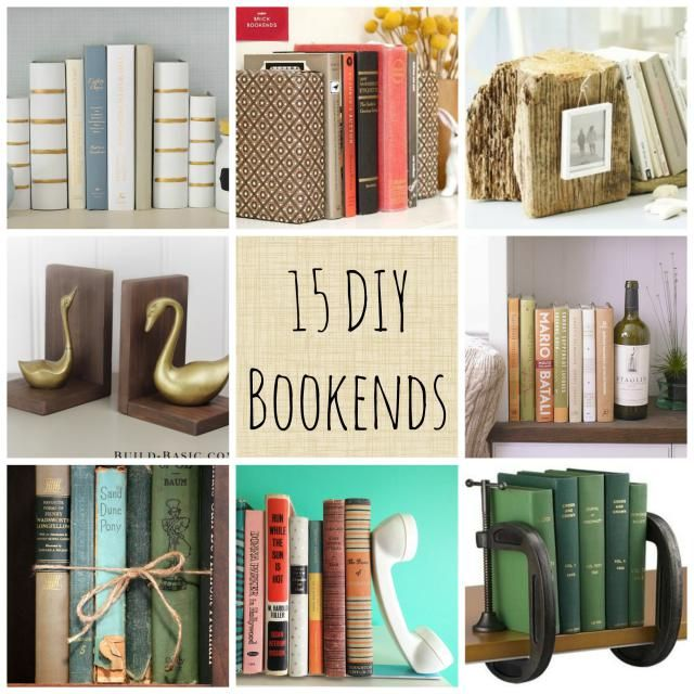 Customize the Inside of These Bookends to Reflect What& Between Them: 15  More DIY Bookend Ideas