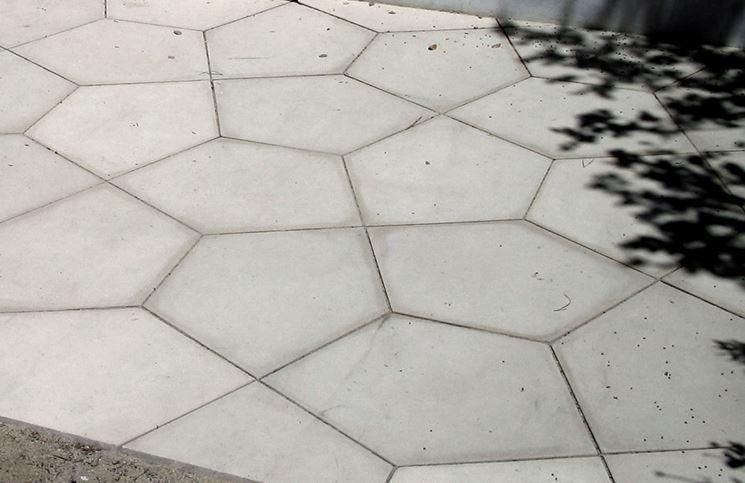 Piastrelle in cemento per esterno giardino