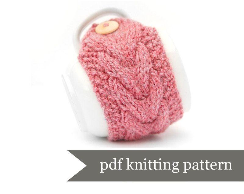 Mug Warmer Knitting Pattern Cup Cozy Pdf Pattern Digital Download