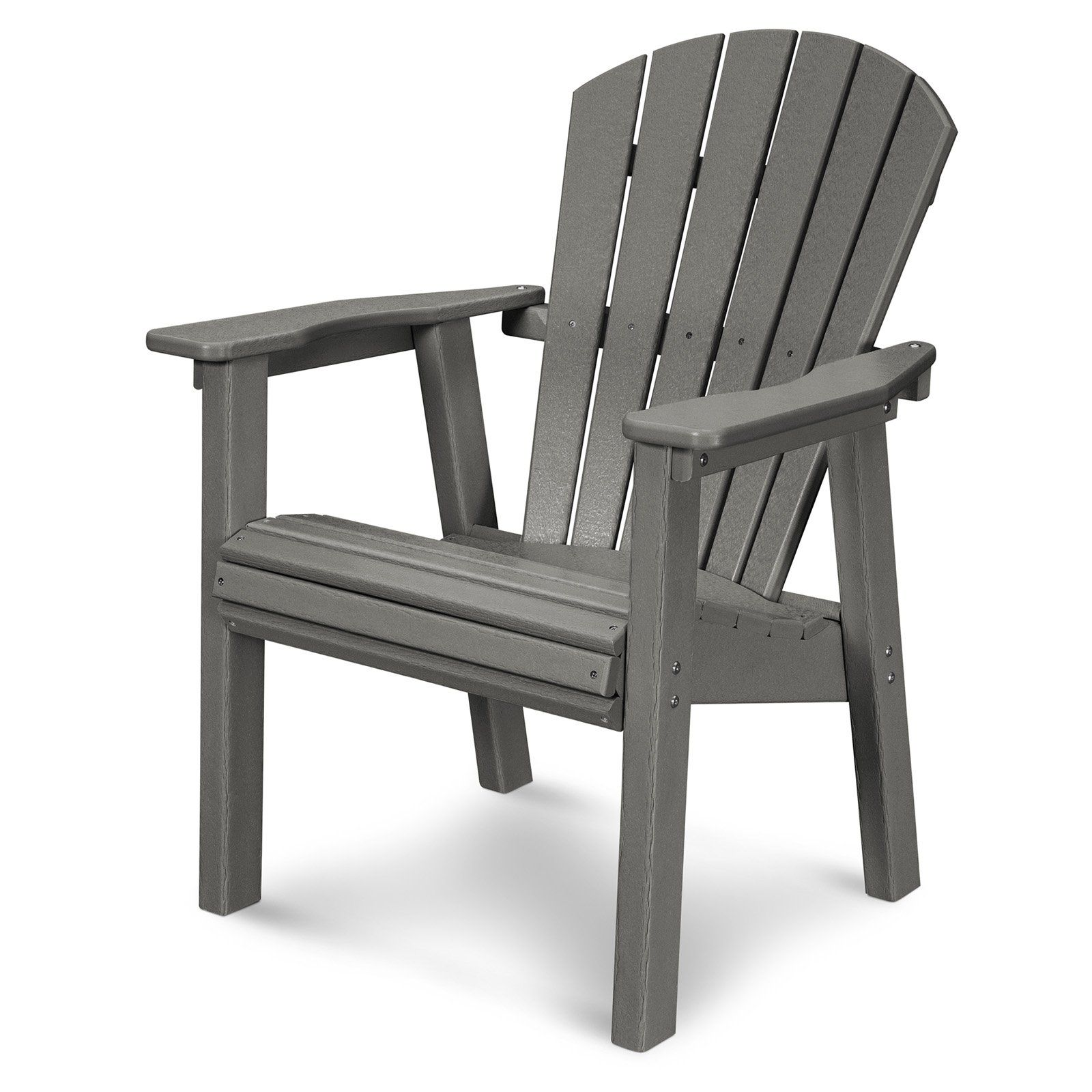 Outdoor Polywood Seashell Recycled Plastic Dining Chair Slate Grey