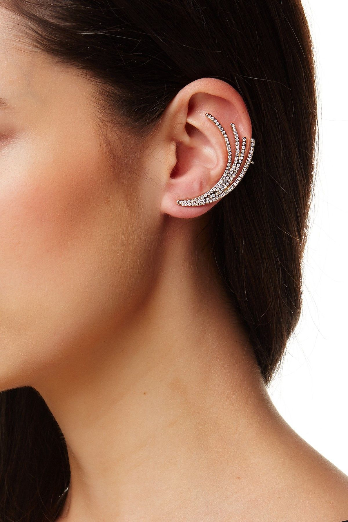 BAUBLEBAR Flourish Glass Embellished Ear Crawler Set