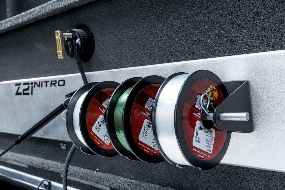 Nitro z21 optional line spooler under starboard rod for Nitro fishing rods