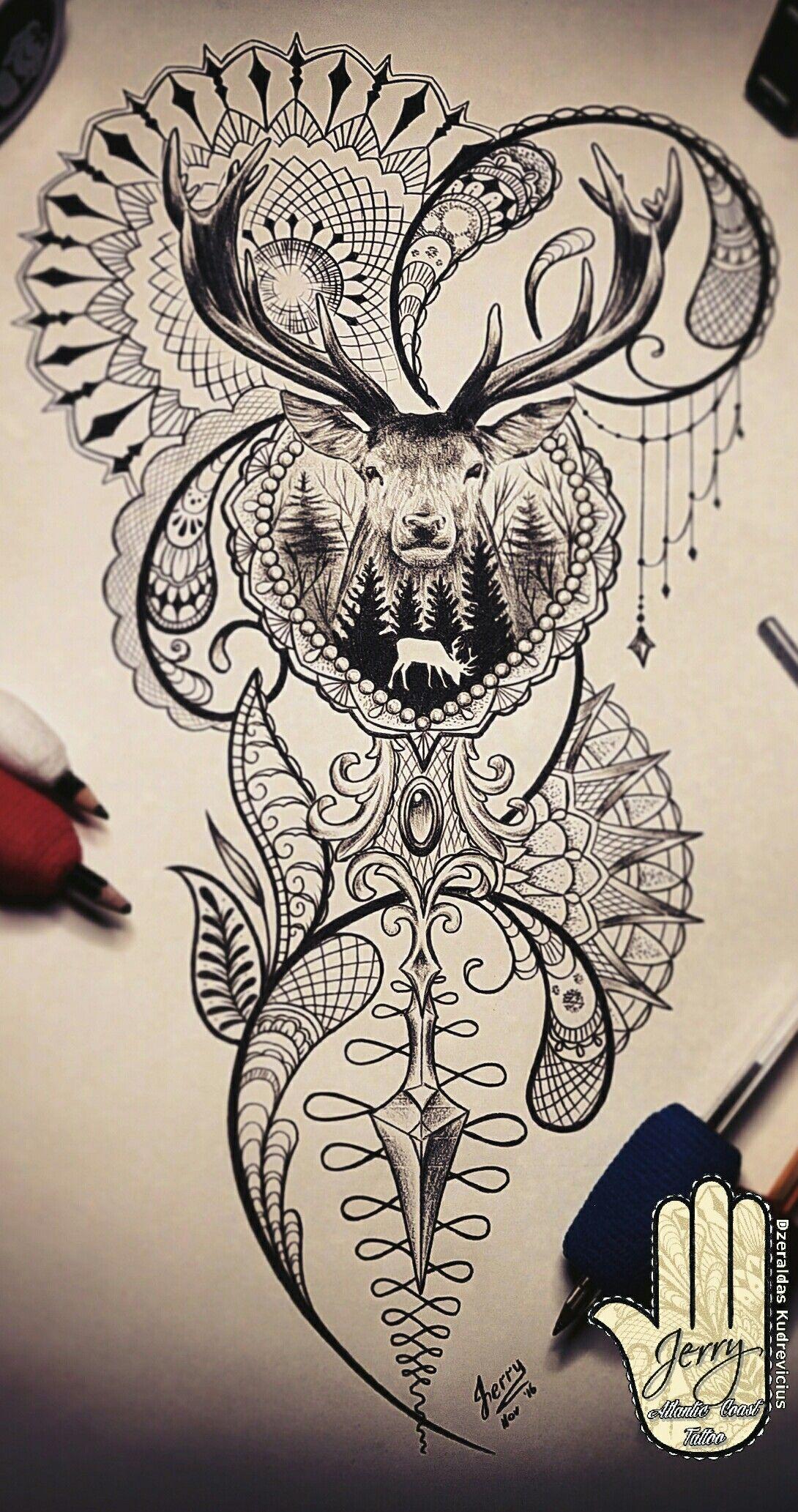 Stag Tattoo Design Idea Dear Stag Tattoo Design Stag