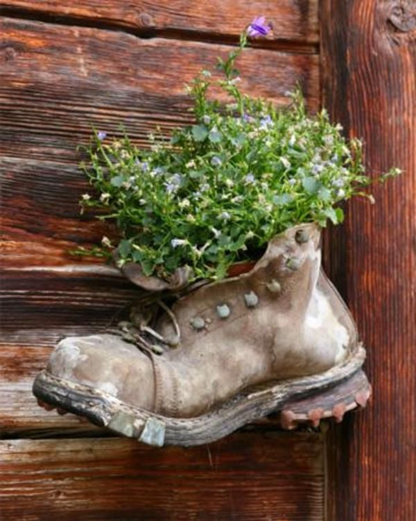 Think outside the window box is part of Unusual garden Planters - Unusual garden planters to purchase or create from items in and around your own home