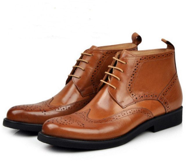 Fashion oxfords shoes genuine leather boots
