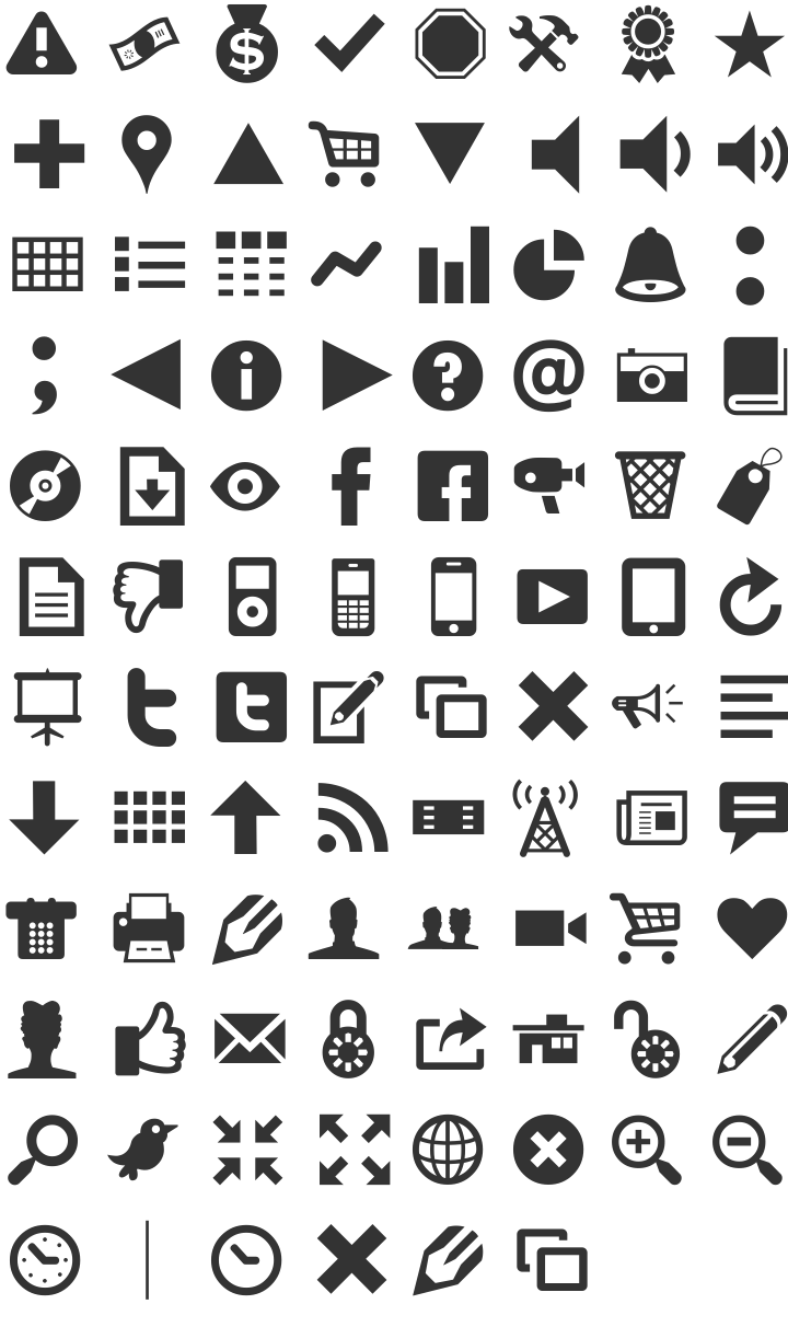 Modern Pictograms pssst there is a camera icon in there