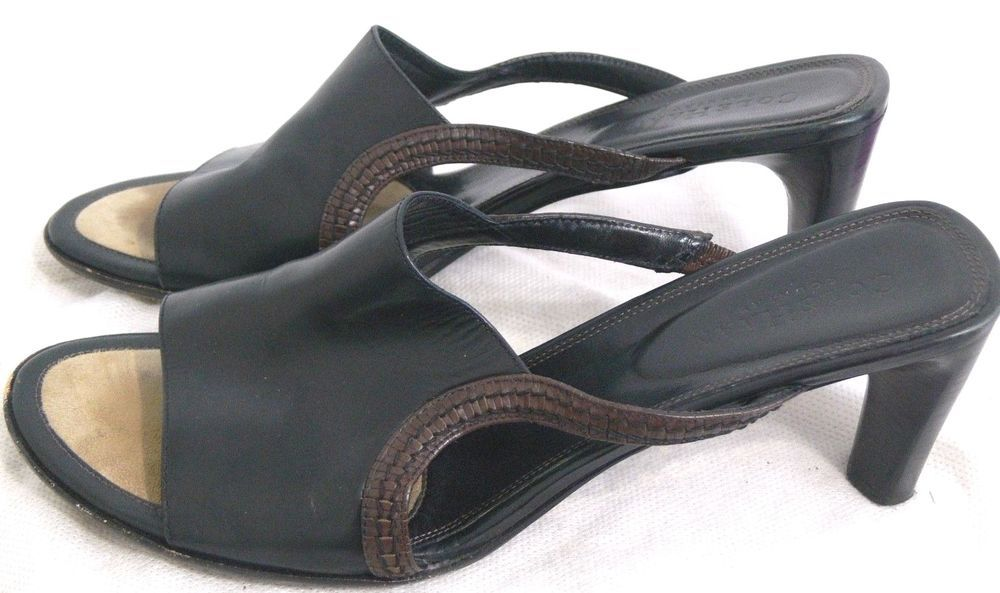 Damenschuhe Cole Haan Leder Sandales Schuhes Heel Slip On Größe 8.5 8.5 Größe B Made ... 73a8ec