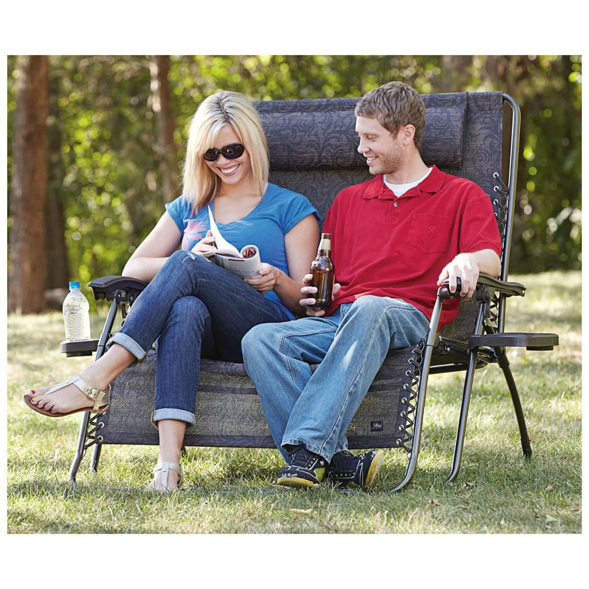 Bliss Hammocks® 2 Person Gravity Free Recliner