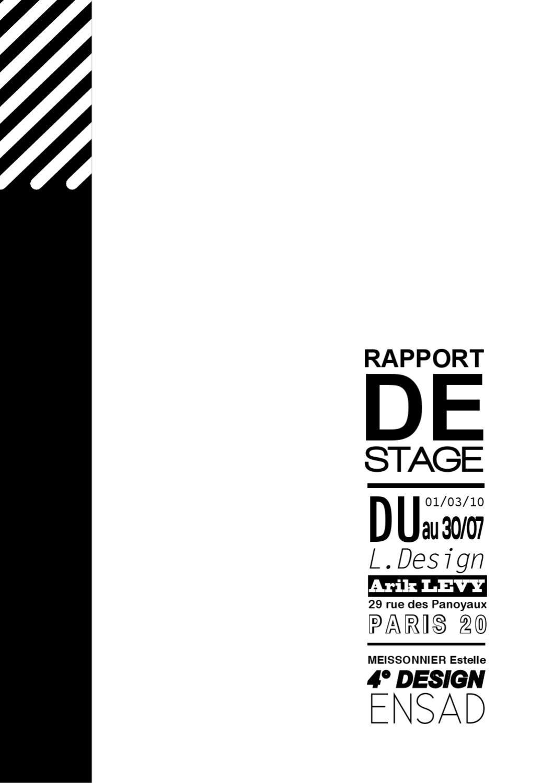 rapport de stage chez l design