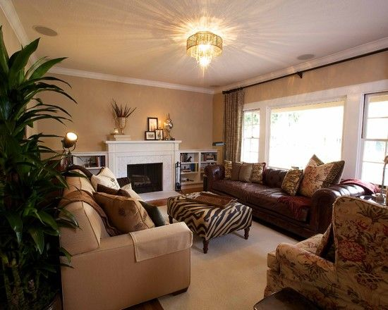 Paint Colors Living Room Brown Leather Furniture Decorating Ideas Tall Walls Modern Couch Design Pictures Remodel Decor And