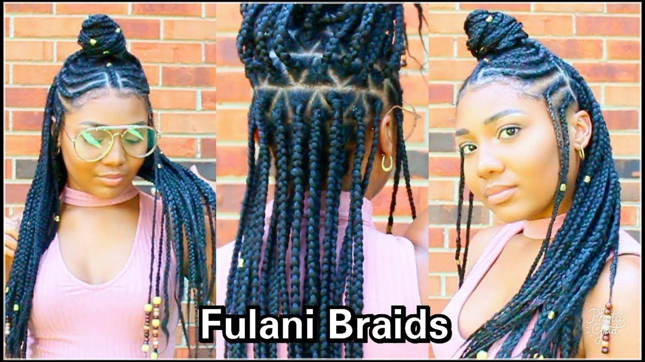 Fulani braids hair tutorial youtube beauty in pinterest