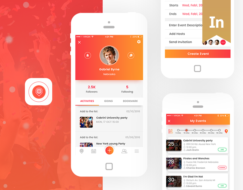 Check Out This Behance Project Festa Event Apps Https Www
