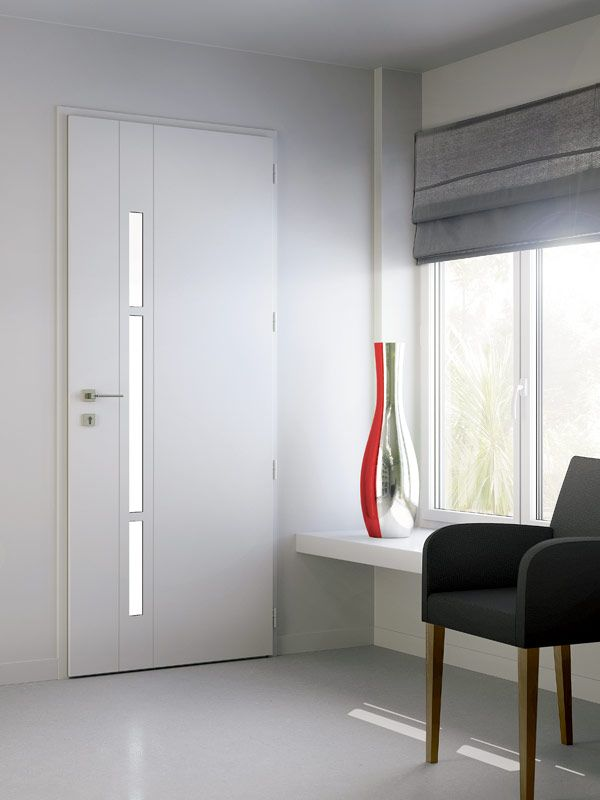 Une porte d 39 entr e en aluminium blanche et lumineuse door piscine et jardin pinterest for Porte aluminium blanche