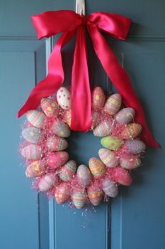 Cut Out + Keep has a ton of free craft projects. I really love this Easter egg wreath. It just looks so springy!!
