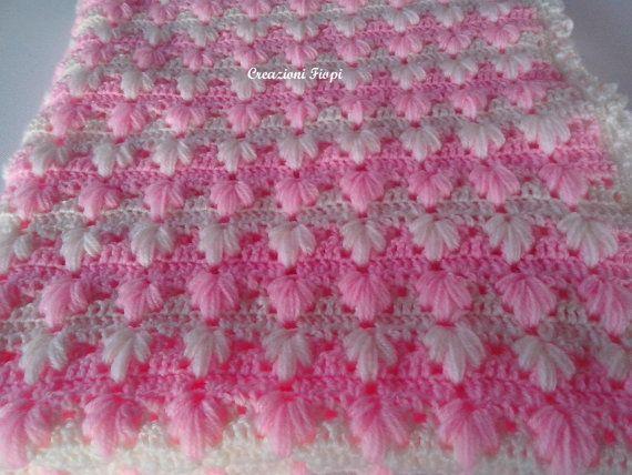 Crochet PATTERN Baby Blanket / puff Aloe stitch/ por CreazioniFiopi ...