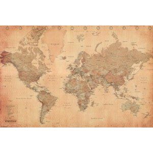 Lindy allen found this map poster on amazon for 1 and thought of world map vintage style art poster print poster print collections poster print gumiabroncs Gallery