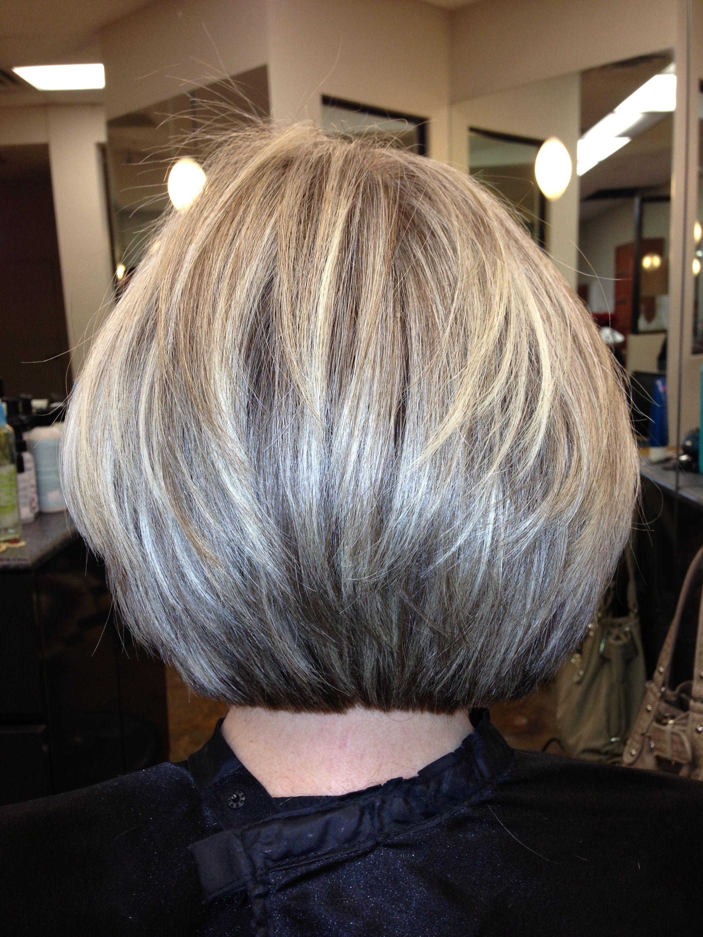 Blunt yet layered texturized cut