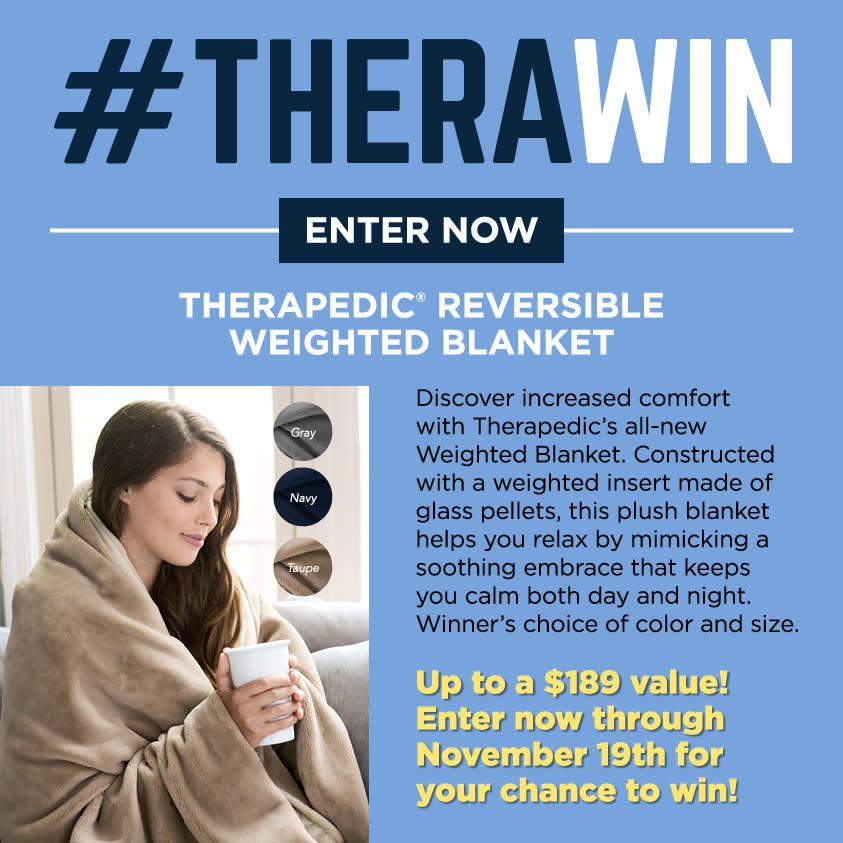 Therapedic Reversible Weighted Blanket In Weighted Blanket Throw Blanket Best Weighted Blanket