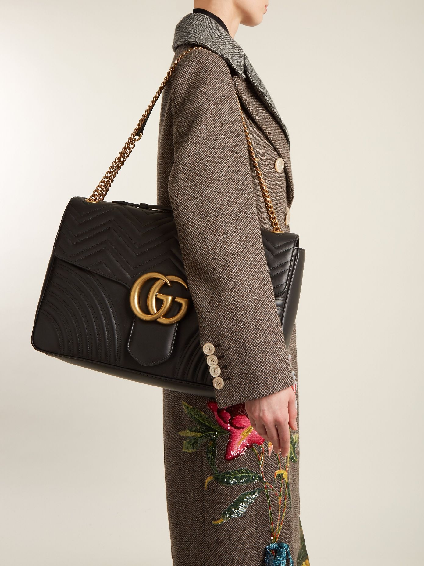 4d548a5e110 GUCCI GG Marmont maxi quilted-leather shoulder bag | Designer Musts ...