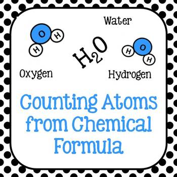 8.5D Counting Atoms from a Chemical Formula in 2020