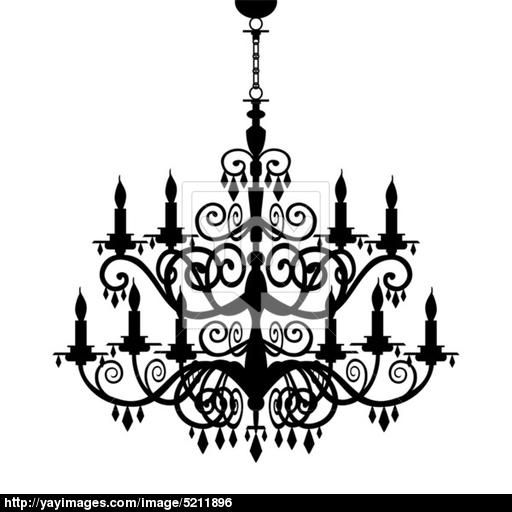 Baroque chandelier silhouette its show time pinterest baroque chandelier silhouette aloadofball Images