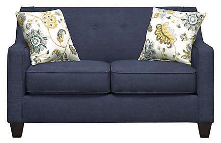 Best Axis Navy Loveseat Art Van Furniture Art Van 400 x 300