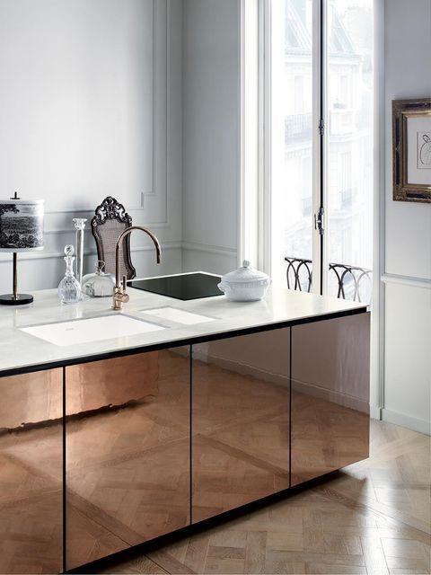 Tendencia: se llevan las cocinas con frentes metálicos
