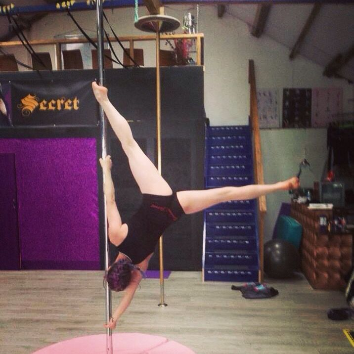 Extended butterfly from super Sunday's pole hire | Pole ...