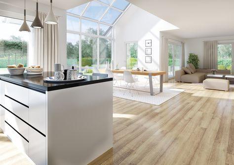 Der offene und großzügige Wohn- Essbereich ist ein wahrer - laminat für die küche