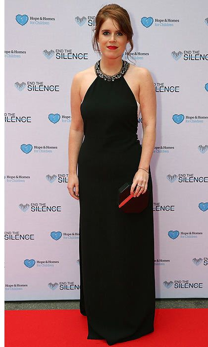 Princess Eugenie <br>Eugenie looks stylish in black at the End of Style charity event.  <p>Photo: © Getty Images</p>