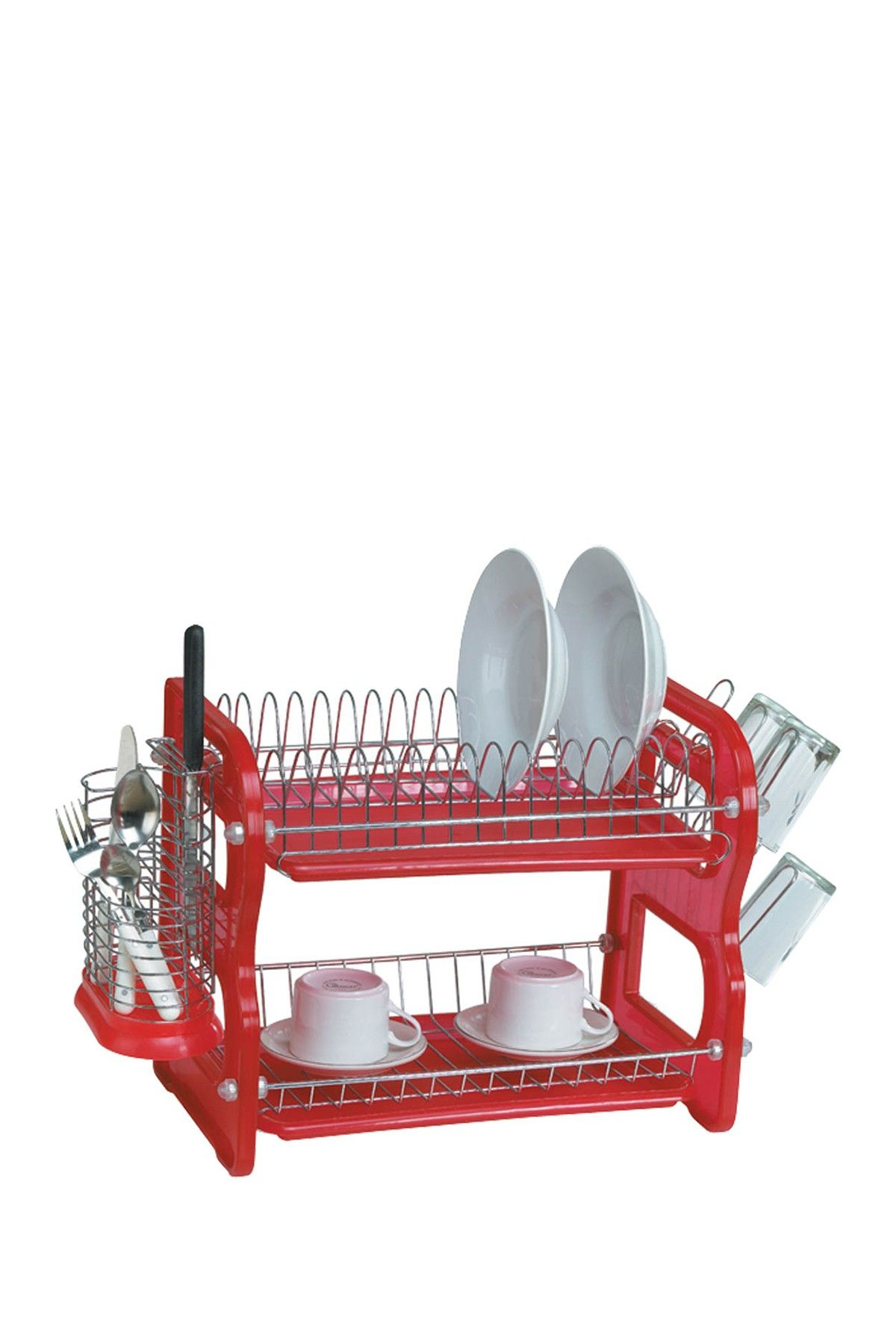 On Hautelook Euro Home Red Two Tier Dish Rack Dish Racks Red Dishes Multipurpose Furniture