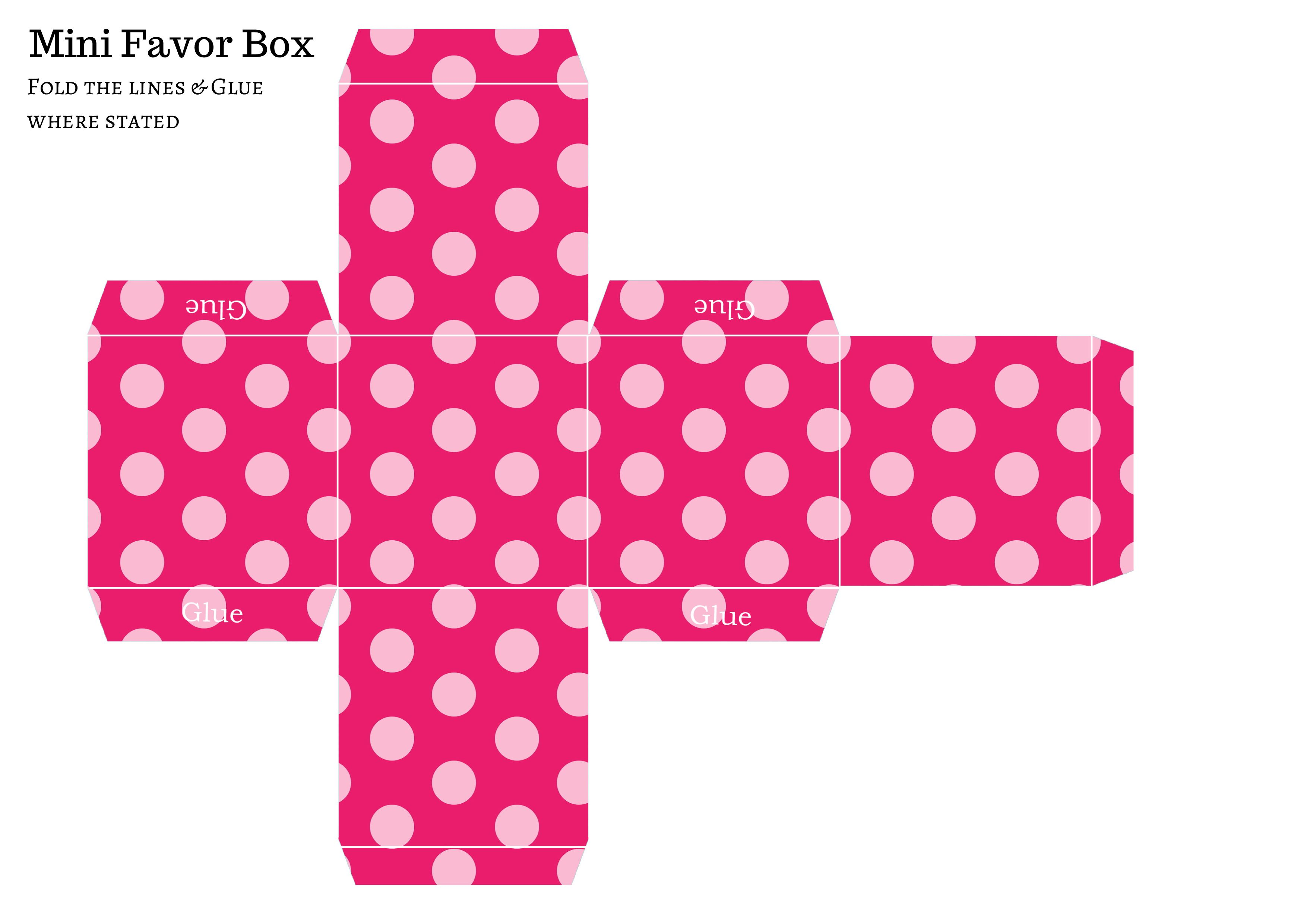FREE DIY Favor Box, free baby shower favors, free favor template ...