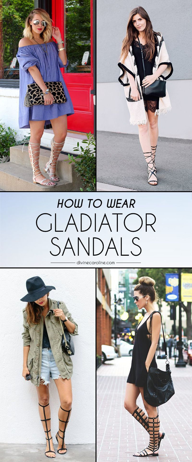 a8e2635a5a4 Gladiator sandals are one of this season s biggest trends. We found 16  trendy bloggers to show you how to rock this look this summer!  Gladiators   Style