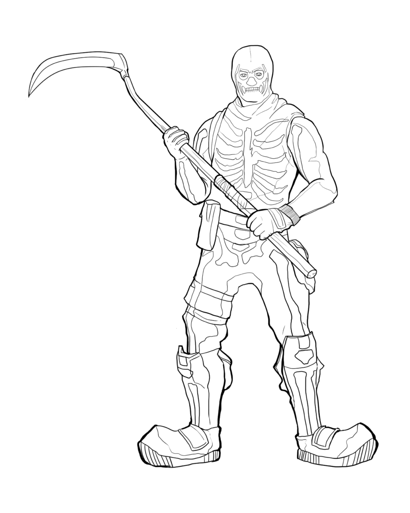 Skeleton coloring pages fortnite coloring pages free ultra ...