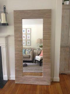 Grasscloth Mirror Diy With Images Diy Mirror Home Mirror