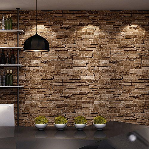 Birwall Cultural Faux Brick Stone Wallpaper 3d Kitchen Living Home Decoration 44 Sand Yellow Birwall Wall Stone Wallpaper Faux Brick Walls Faux Stone Wallpaper