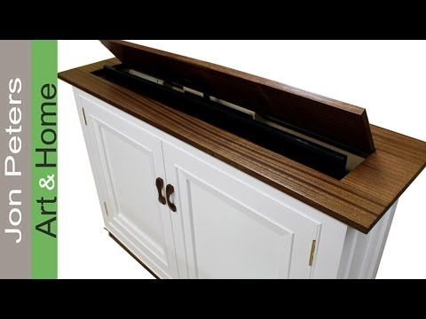 How To Build A Tv Lift Cabinet Making The Top Tv Lift Cabinet